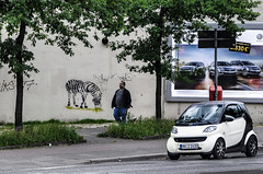 Das letzte HH'er Zebra (cmdpirx) Tags: street urban color colour art public cutout painting fun zoo one graffiti stencil nikon paint artist 7100 d space raum kunst strasse hamburg humor can spray crew zebra layer multiple hh aerosol farbe schablone ffentlicher kuenstler