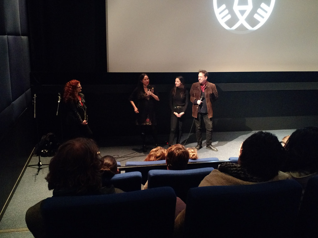 director and stars of The Love Witch at Lantaren/Venster