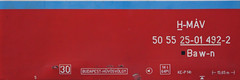 50 55 25-01 492-2 | Baw-n (Philip Klug) Tags: old rot car start hungary alt budapest historic depot blau hegy magyar rost schrift ungarn mav waggon wagen szechenyi mv gyermekvast gyermekvasut hmav hvschvlgy