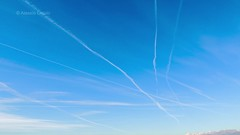 Air Traffic on Italy - TimeLapse (alessiochiolo) Tags: blue winter light sky italy music white motion nature water beauty lines weather clouds plane photography video insane high movement italian day quiet slow view wind earth aircraft smoke air wide jet piano engine trails fast panoramic calm turbo routes simply airlines contrails alpi ways vapor fume combustion airlane pullotion chemtreils