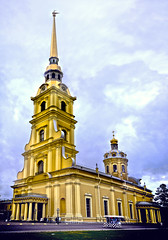 Peter and Paul Cathedral (asenseof.wonder) Tags: travel sky church stpetersburg cathedral russia hdr hdri