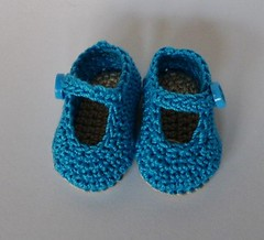 LitlleFee Shoes Turquoise Toes (TeenyWeenyDesign/Adrianne) Tags: ballet shoes handmade crochet yosd littlefee