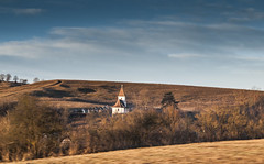 Lonely church (Albert Dobrin) Tags: morning cemetery pentax medieval hills chruch romania transylvania smc mures k7