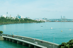 Bridge to the City (Liam Philip Photography) Tags: ocean road new color auckland zealand 40mm unnatural
