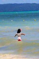 A local girl in the sea, Boracay island, Western Visayas, Philippines (Darius Travel Photography) Tags: pentax philippines boracay filipinas pilipinas boracayisland    pentaxk100dsuper   filipinai