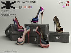 Uptown Funk :: Shoes :: 10 Colors ({kokoia}) Tags: woman high shoes mesh platform uptown funk heels tmp peeptoe maitreya slink secondlfie kokoia themeshproject