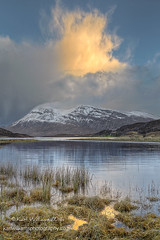 Arkle Flame (Shuggie!!) Tags: winter snow storm mountains water clouds skyscape landscape scotland morninglight highlands williams shoreline hills karl grasses sutherland zenfolio karlwilliams