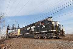 River Monsters (sullivan1985) Tags: new railroad train march nj jersey erie freight cr shared lackawanna assets conrail 2016 emd sd452 oi16