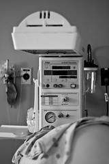 Waiting (Christina Ann VanMeter) Tags: blackandwhite monochrome hospital birth equipment newborn warmer
