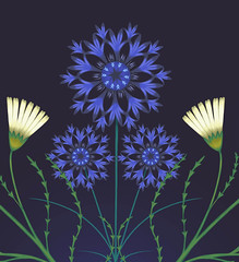 daisydetail2 (Su Owen) Tags: illustration daisies cornflowers textiledesign botanicalart