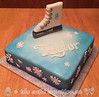 Skating Themed Birthday Cake