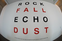 Rock fall echo dust (dangr.dave) Tags: summer canada fall rock architecture downtown texas tx echo historic arctic museumofmodernart dust fortworth modernartmuseum cowtown baffinisland tarrantcounty panthercity