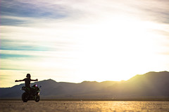 What riding feels like (Antoine Grelin) Tags: light sunset sky usa lake green colors bike sport canon 50mm desert f14 nevada dry motorbike motorcycle kawasaki t3i zx6r drylake 600d zx6rr sporbike