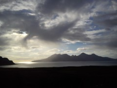 Rum from Laig Bay, Eigg (alanpitman703) Tags: cellphone rum eigg laigbay