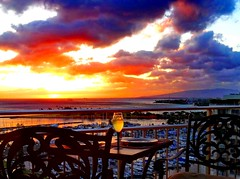 Chilled white wine with brilliant sunset colours (peggyhr) Tags: sunset hawaii alfresco hff thegalaxy 50faves peggyhr heartawards thegalaxyhalloffame thelooklevel1red thelooklevel2yellow thelooklevel3orange thelooklevel4purple thelooklevel5green thelooklevel6blue niceasitgets~level1 musictomyeyes~l1 level1peaceawards dsc02681y