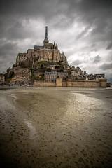 Mont Saint Michel (Saint Michael's Mount) on a cloudy day (Laurent Tironi) Tags: cloudy saintmichaelsmount canon24105f4 canon6d