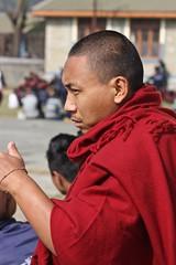 Tibetan Lama, Pokhara (Sharon and Peter Komidar) Tags: nepal refugees lama tibetan pokhara buddhistmonk tibetanbuddhist tibetanrefugee tashiling tibetanbuddhistmonk