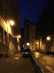 Streets of Paris. Paris. France. (Valrie_de_Paris) Tags: street light paris france streets night buildings dark evening darkness path walk