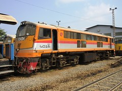 Bang Sue Depot, Thailand (Barang Shkoot) Tags: electric train thailand general bangkok engine loco depot locomotive shovel ge gauge cummins bkk gek srt metre bangsue 4016 shovelnose rotfai