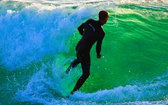 In front of the green wave - Tel-Aviv beach (Lior. L) Tags: ocean sea green nature sport wow surf surfer wave greenwave