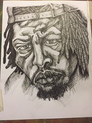 meechy darko drawing ink6 (storm1sky) Tags: art pencil ink faces drawing flatbushzombies