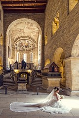 Wedding in Prague Castle (Luca Quadrio) Tags: flowers wedding light woman white castle classic church girl composition asian europe ceremony marriage praha praga wife cz repubblicaceca