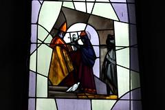 chapelle du Scex (bulbocode909) Tags: rouge suisse bleu vitrail valais vitraux stmaurice chapelles chapelleduscex