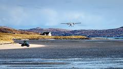 Landing on the Beach at Traigh Mhor (David Jones 2) Tags: beach bay scotland outer barra hebrides mhor traigh