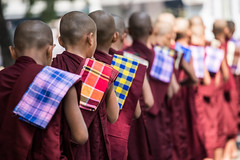 The Queue-DSC_1105 (thomschphotography3) Tags: school red colours burma streetphotography queue monks myanmar birma mandalay sagaing novices