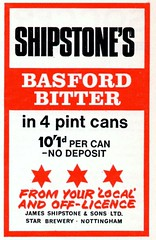 1970 ADVERT - SHIPSTONES BASFORD BITTER - STAR BREWERY NOTTINGHAM (Midlands Vehicle Photographer.) Tags: nottingham star brewery advert 1970 bitter basford shipstones