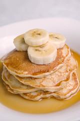 Banana Kodiak Cakes. (LisaDiazPhotos) Tags: cakes pancakes banana organic kodiak lisadiazphotos