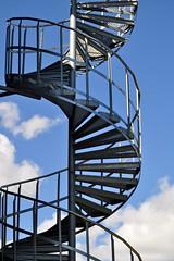 Industrial DNA (mikael_on_flickr) Tags: sky industry metal architecture clouds stairs spiral denmark industrial nuvole himmel cielo scala danmark architettura skyer aalborg arkitektur goingup industri danimarca metallo nordjylland salire