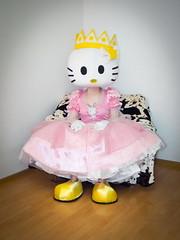 Pink Princess Kity (blackietv) Tags: pink white halloween costume dress princess hellokitty kitty crossdressing tgirl transgender gloves crown gown crossdresser