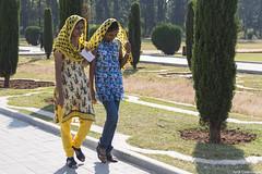 Young Women in Gumbaz Mauseoleum, Srirangapatnam, Karnataka, India (Jordi Castellsague) Tags: india women karnataka srirangapatnam gumbaz