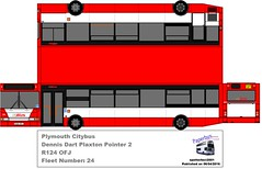 R124 OFJ (spotterboii2001) Tags: red 2 white black bus ferry cornwall pointer go plymouth number devon 24 dennis fleet pcb cgb dart rame devonport citybus livery liskeard torpoint gobus plaxton paperbus r124 r124ofj ofj spotterboii2001 raybrandon