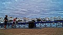 Clouds... (Barbara Bonanno BNNRRB) Tags: travel blue colors clouds strada nuvole blu lanzarote journey viaggio arrecife charco biciclette bluette skycielo bnnrrb