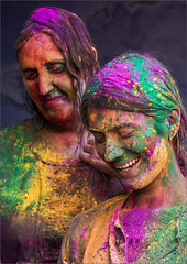 Holi - Vrindhavan (VadiveluTT) Tags: portrait india colors festivals holi mathura vrindhavan