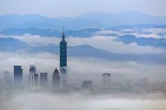 Taipei, Taiwan _IMG_8066 (Len) Tags: mist fog clouds taiwan taipei taipei101   daybreak 6d seaofclouds 70300  101   ef70300mmf456isusm