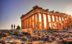 The Parthenon Athens (erms81) Tags: old sky people cloud clouds canon lens temple eos photo photos blu monumento hellas sigma athens unesco parthenon grecia acropoli hdr atene 600d