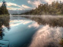 P2270512_3_4_5_tonemapped.jpg (sdhanabalan) Tags: newzealand cloud lake reflection tree landscape fox westcoast hdr lakematheson
