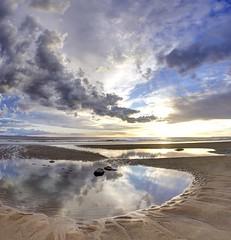 High and dry (pauldunn52) Tags: sky sun heritage pool rock wales reflections bay glamorgan dunraven cloudsstormssunsetssunrises