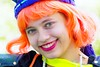 Smile IMG_2305-1 (matwith1Tphotography) Tags: artcarparade houston downtonhouston canon tamron 18270mm texas colorful orange smile pretty 116in2016 expression