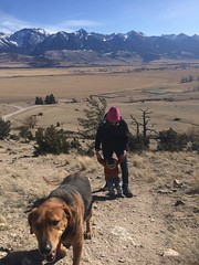 Amy on hogback with Callum