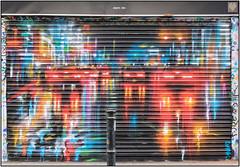 East End Street Art (Mabacam) Tags: streetart london rain wall night painting lights graffiti mural paint wallart urbanart shoreditch freehand publicart aerosolart spraycanart dank eastend 2016 urbanwall dankitchener