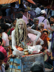 Monaco indiano (chiarafratocchi) Tags: travel people orange india river monaco sadhu gange spiritualit