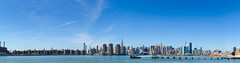 Midtown From Greenpoint pano (AAA Studio) Tags: park nyc blue sky panorama newyork building brooklyn canon river frames shot state manhattan pano east esb empire 20 transmitter