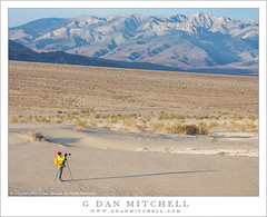 Photographer, Death Valley (G Dan Mitchell) Tags: park woman mountains nature female landscape emerson sand photographer outdoor tripod national deathvalley mitchell patty patricia range panamint