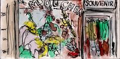 sie waren da gewesen und hatten alles angesehen. Jetzt suchten sie nach bleibenden Erinnerungen (raumoberbayern) Tags: summer bus pencil subway munich mnchen sketch drawing sommer tram sketchbook heat ubahn draw bleistift robbbilder skizzenbuch zeichung