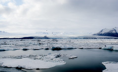 The beating of our hearts is the only sound (Michelle Tuttle) Tags: snow cold ice landscape iceland quiet peaceful lagoon iceberg northern waterscape icelagoon