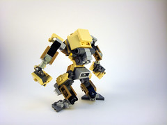 O.G.R.E. Frame - Rear (Jay Biquadrate) Tags: lego mecha mech moc microscale mfz mf0 mobileframezero